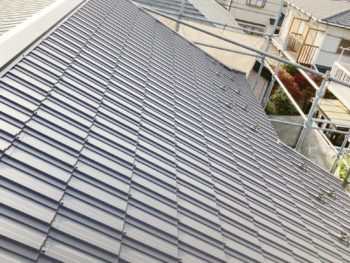 千葉県船橋市 K様邸 屋根金属瓦重ね葺きリフォーム事例